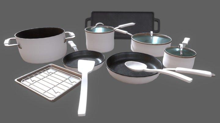 Pots and Pans Asset Kit 3D Model