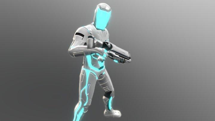 Blue Soldier 3D Model