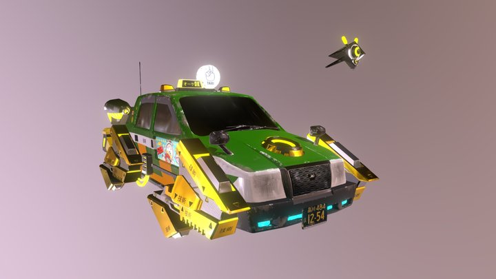Taxi Tokyotown - Nathan Sioui 3D Model