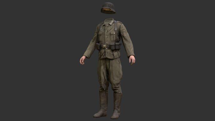 German Uniform - WW2 Scanned Asset Pack 3D Model