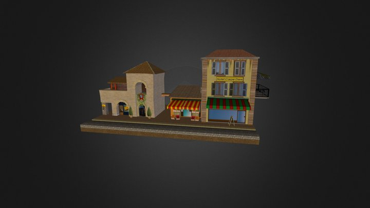 Low Poly Cityscene-by Chris 3D Model