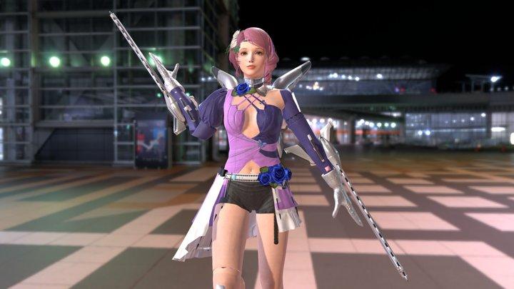 Alisa Tekken Pose 3D Model