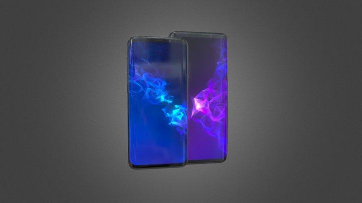 Samsung Galaxy S9 and S9 PLUS Black model 3D Model