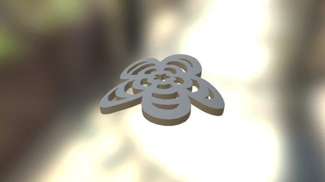 Bracelet Flower Element 3D Model