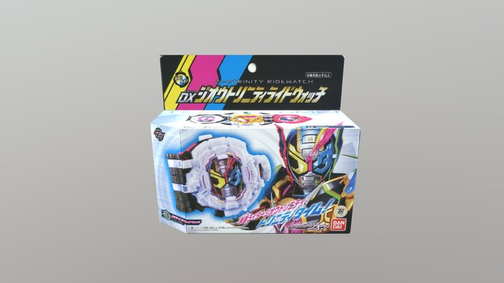 DX Kamen rider Zi-O Trinity Ridewatch BOX 3D Model