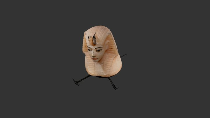 Tut Canopic Jar Lid Model 1 3D Model