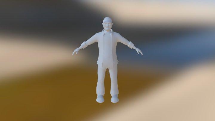 Bobby Singer Model WIP 3D Model