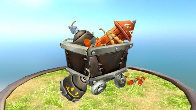 Goblin Bomb Factory Cart 3D Model