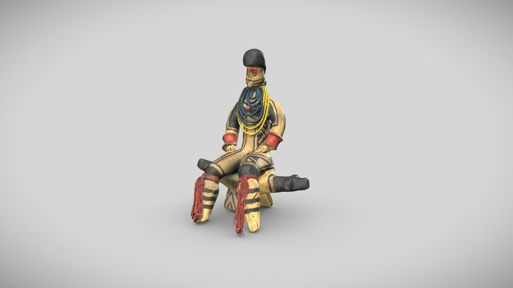 Litxoo statuette representing a young intiant 3D Model