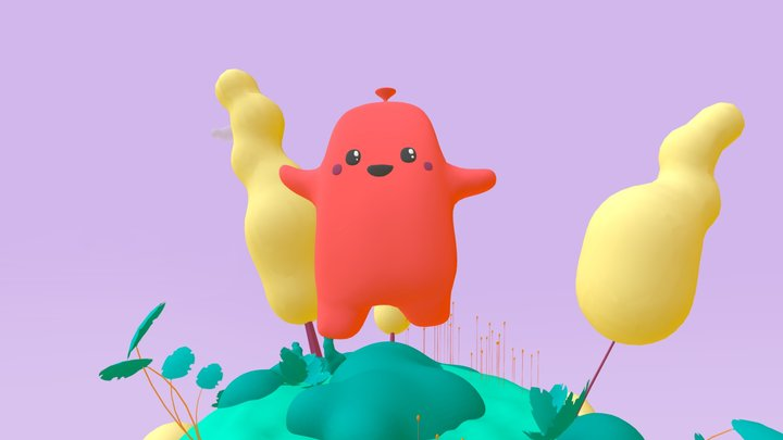 Candy Cartoon Scene  ❤️ 3D Model
