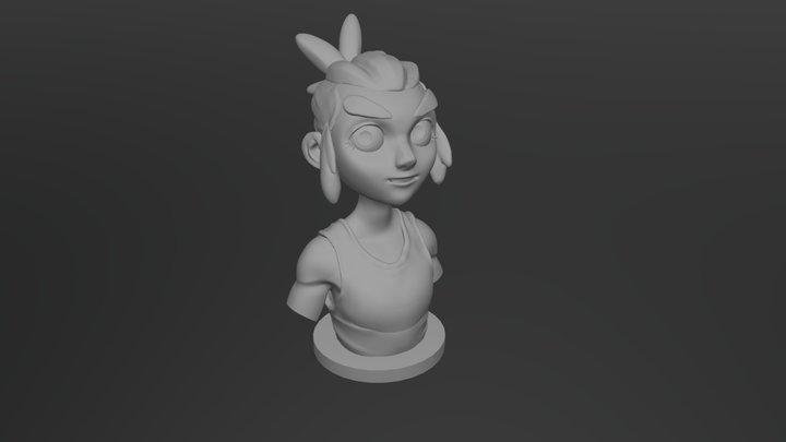 Jim Hawkins figure - Bust 3D Model
