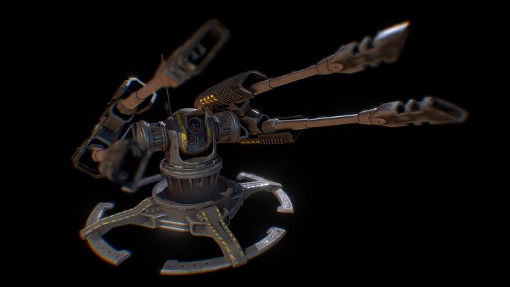 SA Defence Turret 3D Model