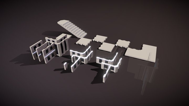 Simple Building - Tileset Pack 3D Model