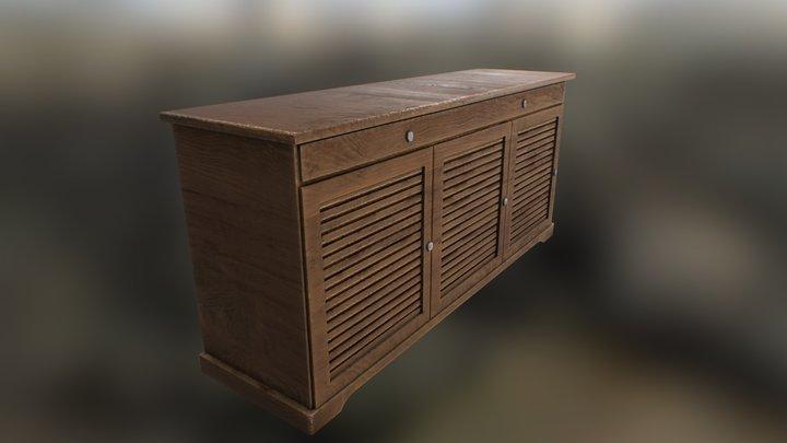Brown cabinet 3D Model