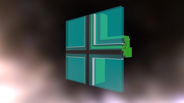 Muro Cortina Estructural 2 3D Model