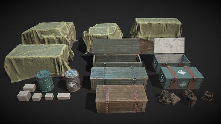Cargo Asset Set 3D Model