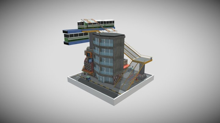 Bangkok City Scene DAE 3D Model