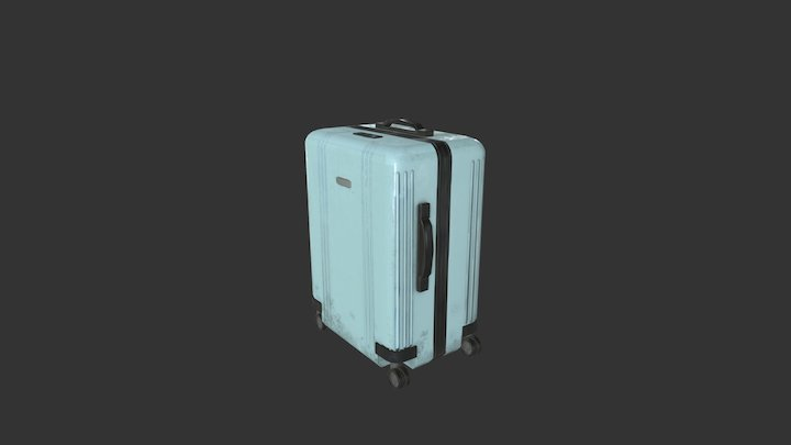 Used suitcase 3D Model