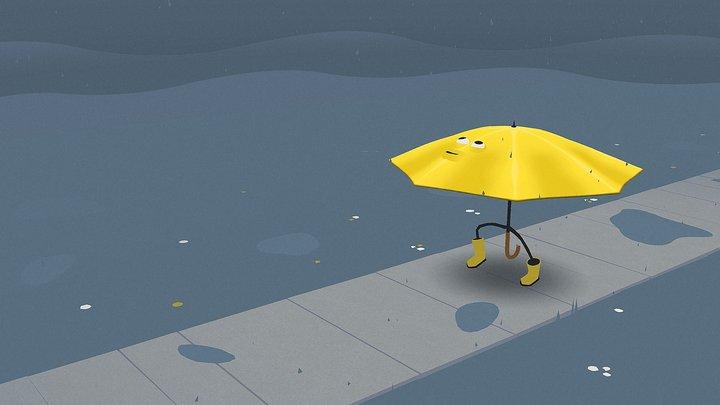 Walkin' in the Rain 3D Model