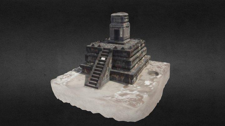 Altar-Templo miniatura 3D Model