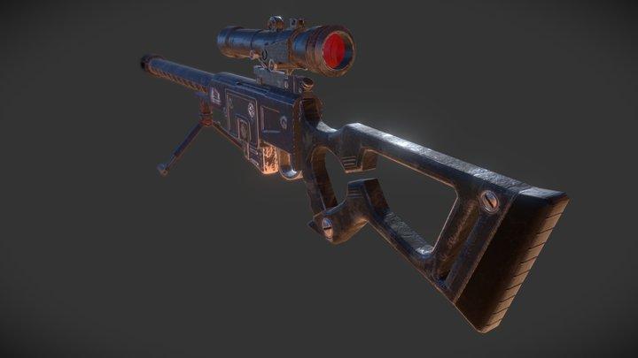 DKS-501 Sniper Rifle - Fallout New Vegas 3D Model