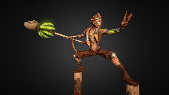 Monkey King Character - PBR 3D Model