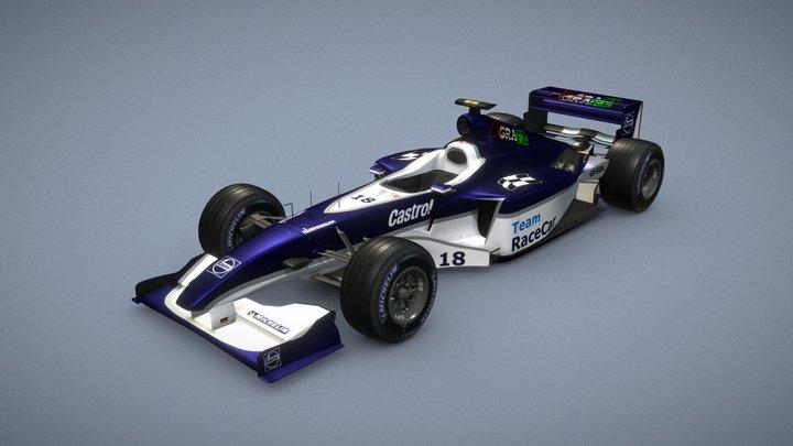 RaceCar RC-09 (Re-imagined model) 3D Model
