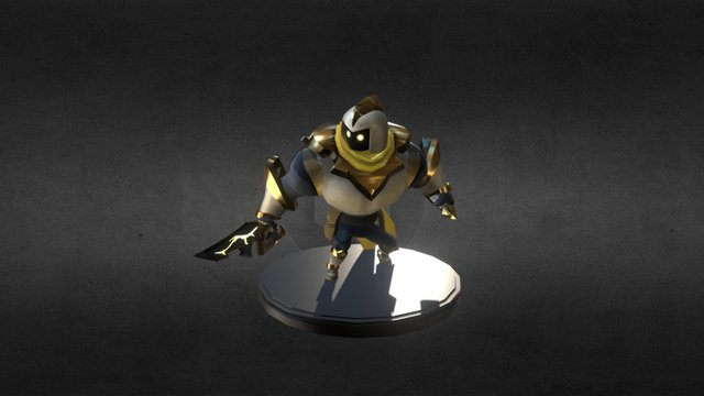 BYU Game 2015: Vanguards - Lightning Knight Rig 3D Model