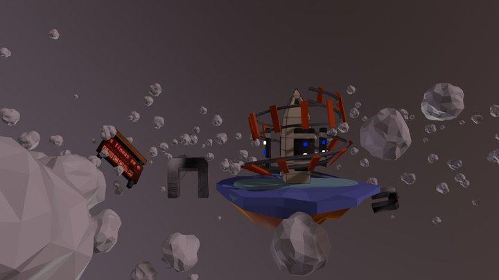 Obelisco y subte. 3D Model