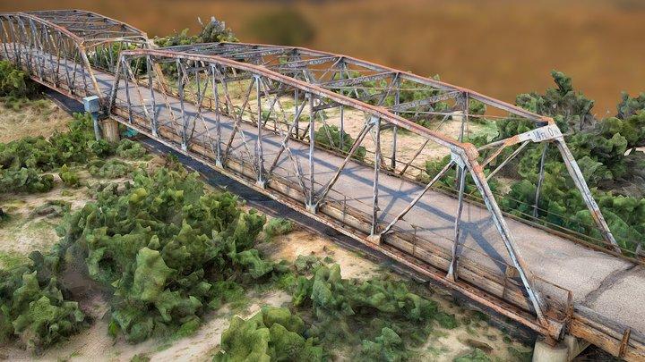 Parker Through Truss Bridge over the Rio Puerco 3D Model
