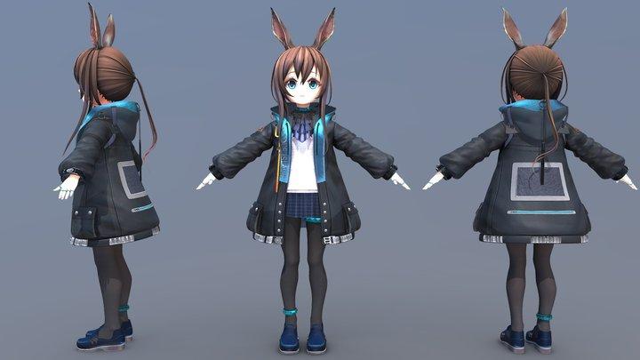 [Arknights] Amiya (T-Pose) 3D Model