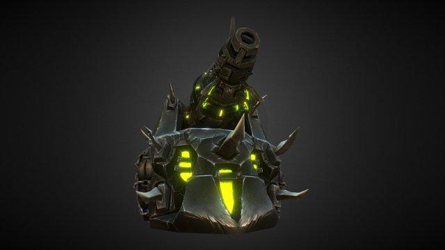 Fel Iron Horde Lightning Tank 3D Model