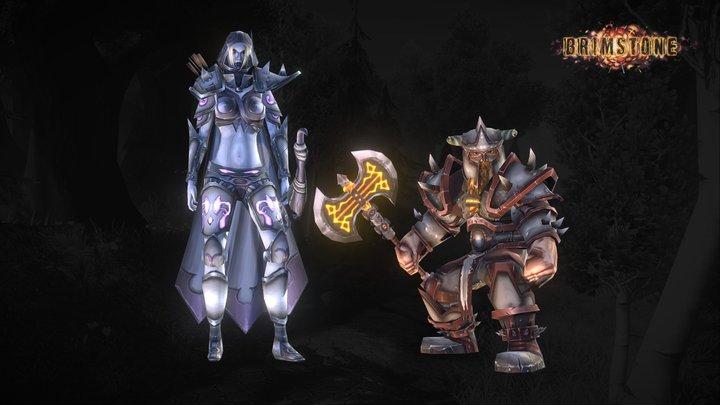 Hunter and warrior 3D Model
