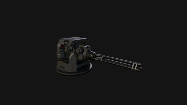 Turret Gatling 3D Model