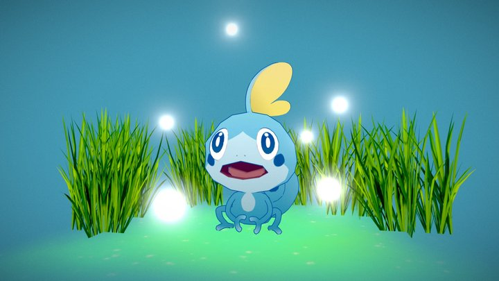 Little Sobble - Pokemon 3D Model