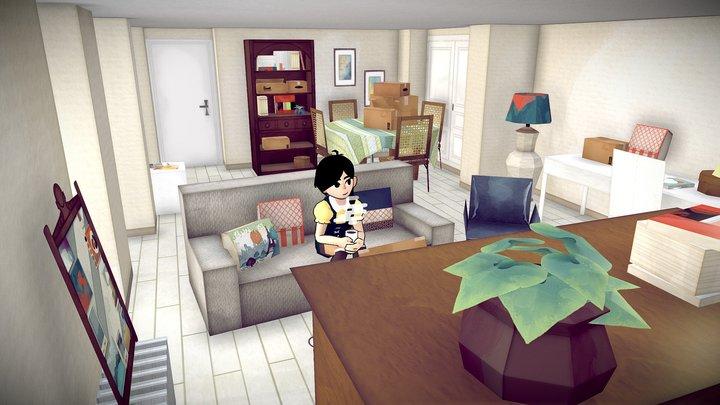 Little living-room 3D Model
