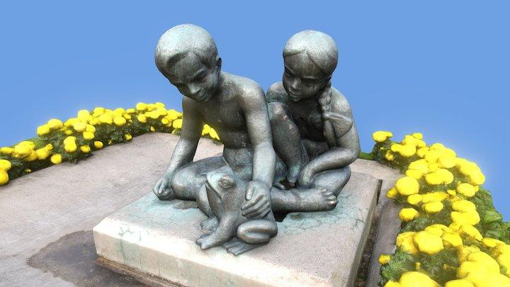 Ystävykset (Friends) - Bronze Sculpture 3D Model