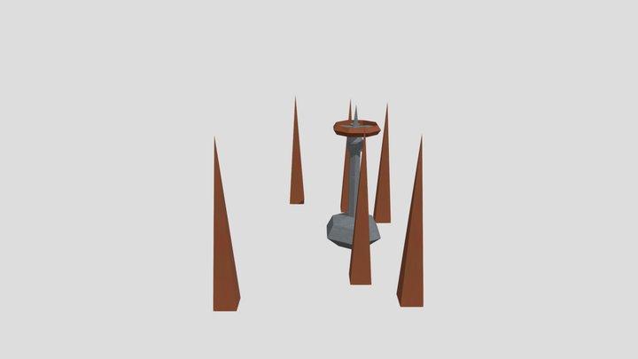 Bobina De Tesla 3D Model