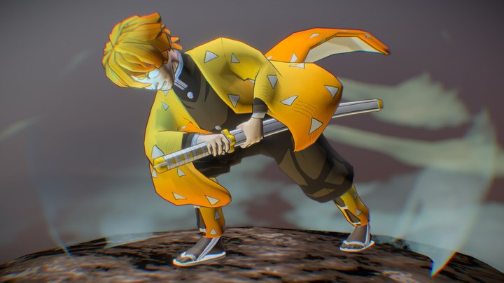 Zenitsu Agatsuma (Game-Res) 3D Model