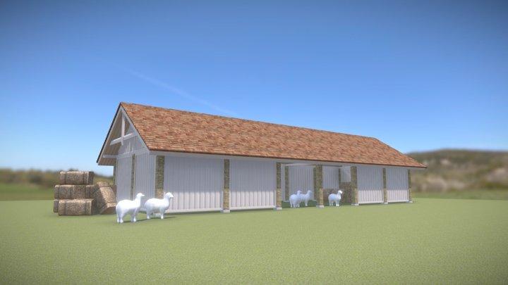 SHEEP BARN 3D Model