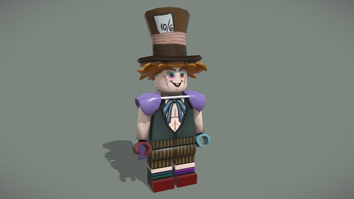 Lego Mad Hatter - Street Fighter 3D Model