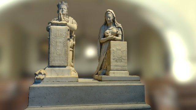 Tombstone of Louis XVI and Marie-Antoinette 3D Model