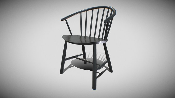 Johanssor J64 Chair-BlackAsh wood 3D Model