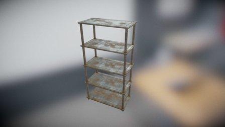 Industrial Shelf01 Large 3D Model