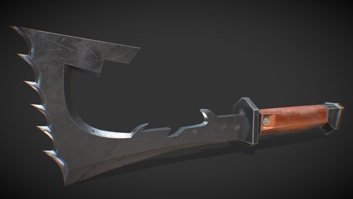 Cleaver blade_low poly 3D Model