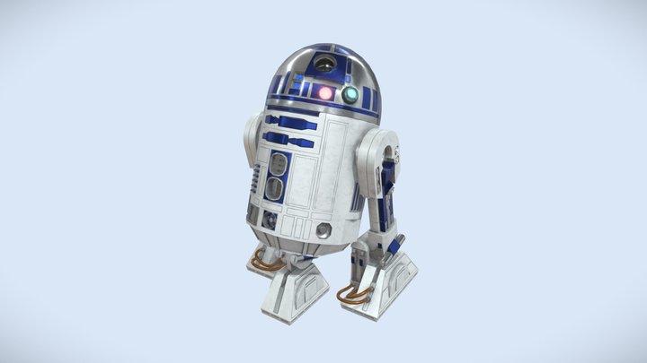 R2-D2 low-poly 3D Model