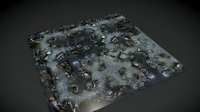 The Dying Forest - Ground Set preview 3D Model
