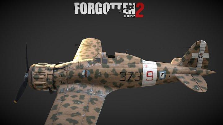 Macchi MC.200  Forgotten Hope 2 3D Model