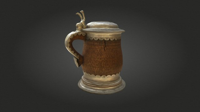 Luthers Bierkrug / Luther's Beer Mug 3D Model
