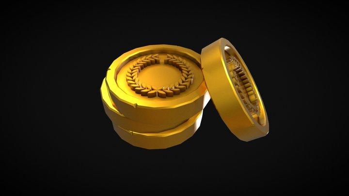 Golden Imperial Coins 3D Model